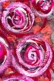 De waterverf schilderde bloemenachtergrond Stock Afbeelding