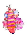 De waterverf van de vlinder Stock Afbeelding