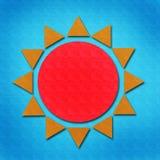 De waterverf van de zon op papier Royalty-vrije Stock Afbeeldingen