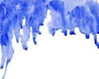 De waterverf van het ultramarijn Royalty-vrije Illustratie