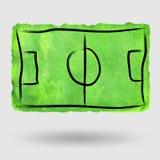 De waterverf van het voetbalgebied royalty-vrije stock afbeelding