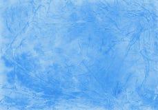 De waterverf verfrommelde en kraste blauwe achtergrond kijkt als ijzig venster Illustratie Royalty-vrije Stock Afbeeldingen