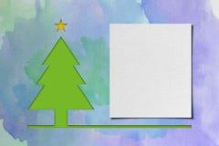 De waterverftextuur van de kerstboom â Stock Foto
