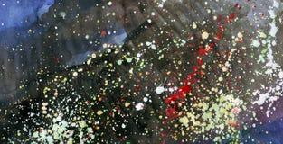 De waterverven van de abstractie Stock Afbeelding