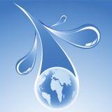 De watervoorziening van de wereld vector illustratie