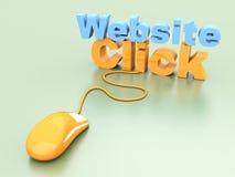 De website klikt Royalty-vrije Stock Foto's
