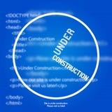 De website ontwerpt in aanbouw Malplaatje Stock Foto's