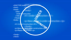 De website ontwerpt in aanbouw Malplaatje Stock Afbeeldingen