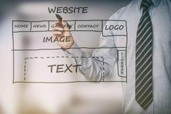 De website ux app van de ontwerpertekening ontwikkeling royalty-vrije stock afbeeldingen
