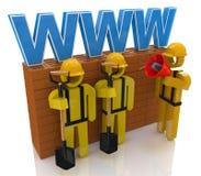 De websitebouw of reparatieconcept Stock Foto's