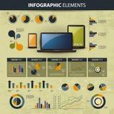 De websiteelementen van Infographic Stock Foto
