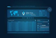 De websitemalplaatje van de muziek Stock Foto