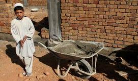 De wederopbouw van de school stock foto