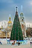 De wedijverdag van de kerstboom golvende schets Stock Fotografie