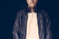 De wedstrijd van DJ, close-up Royalty-vrije Stock Foto