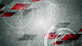 De weefsel abstracte videoanimatie van technologie grunge