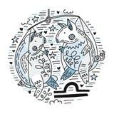 De Weegschaal van dierenriemsignes stock illustratie