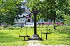De Weegschaal van het dierenriemteken in het Park bij de Amur-Boulevard Royalty-vrije Stock Afbeeldingen