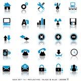 De weerspiegelende Knopen van het Web Stock Afbeeldingen