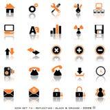 De weerspiegelende Knopen van het Web Stock Foto