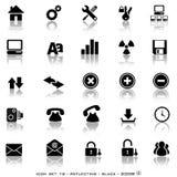 De weerspiegelende Knopen van het Web Royalty-vrije Stock Fotografie