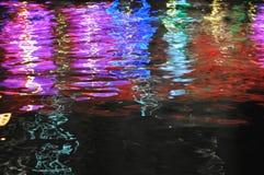 De weerspiegeling van de watertextuur van licht Stock Afbeelding