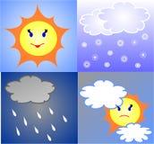 De weervoorspelling Stock Fotografie