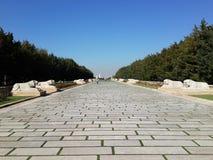 De weg aan Anitkabir royalty-vrije stock foto's