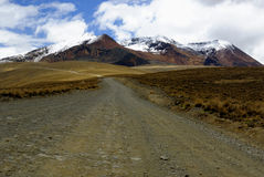 De weg aan Chacaltaya, La Paz, Bolivië Stock Foto's