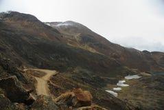 De weg aan Chacaltaya, La Paz, Bolivië Royalty-vrije Stock Fotografie