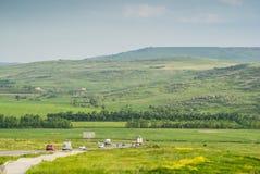 De weg aan de heuvels Royalty-vrije Stock Afbeeldingen