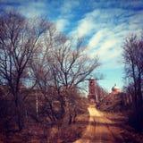 De weg aan de kerk Royalty-vrije Stock Fotografie
