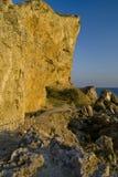 De weg aan de kustklippen Stock Afbeeldingen