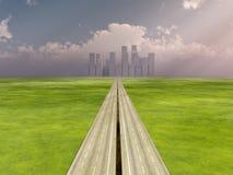 De weg aan de Stad Royalty-vrije Stock Foto's
