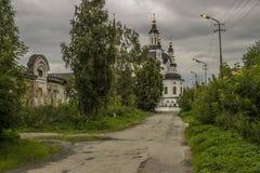 De weg aan de tempel Stock Fotografie