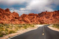 De weg aan de Vallei van Brand royalty-vrije stock foto's