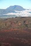 De weg aan de vulkaan van Piton DE La Fournaise Royalty-vrije Stock Fotografie