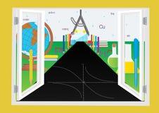De weg aan de wereld van kennis Royalty-vrije Stock Afbeelding