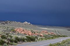 De weg aan Doodsvallei Stock Foto