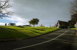 De weg aan het huis Stock Fotografie
