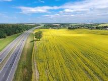De weg aan Minsk royalty-vrije stock afbeeldingen