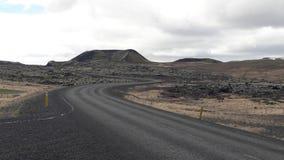 De weg aan nergens in Eiland Stock Fotografie