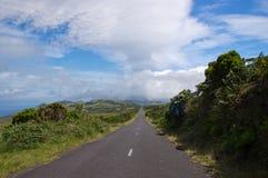 De weg aan oneindigheid, Pico eiland Portugal Stock Afbeeldingen