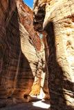 De weg aan de oude stad van Petra in Jordani? stock foto