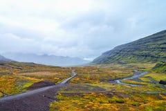 De weg aan paradijs ijsland stock fotografie