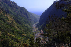 De weg aan Sao Vicente. Madera Royalty-vrije Stock Fotografie