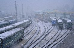 De weg aan Siberië royalty-vrije stock fotografie