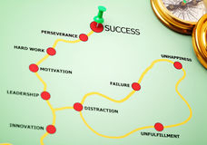 De weg aan succes Royalty-vrije Stock Afbeeldingen
