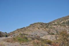 De weg in Altiplano Royalty-vrije Stock Afbeeldingen