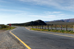 De Weg begint hier aan Tankwa Karoo Stock Afbeelding